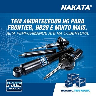 Nakata lança amortecedores HG para Frontier, March, HB 20, Etios, IX35, Journey/Freemont, Soul, New Fiesta e Civic