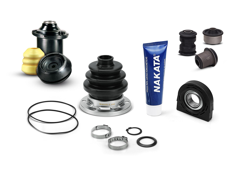 Nakata conta com mix de soluções na linha metal-borracha para sistemas de transmissão e suspensão