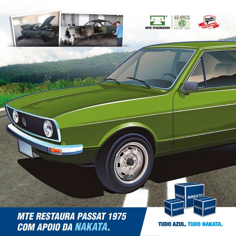 Nakata participa de projeto de restauração de Passat 1975